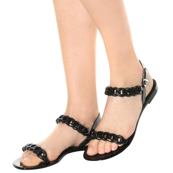 b88ba091f502 Givenchy Shoes - Givenchy Chain Link Jelly Sandals